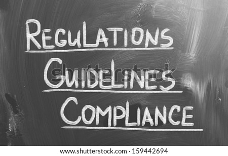 Compliance Guidelines Regulations Concept - stock photo