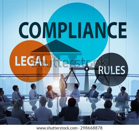Compliance Legal Rule Compliance Conformity Concept - stock photo