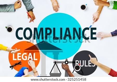 Compliance Legal Rule Compliancy Conformity Concept - stock photo