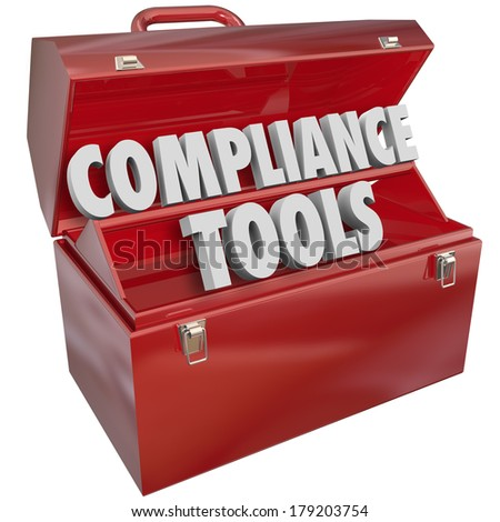 Compliance Tools Skill Advice Knowledge Information Toolbox - stock photo