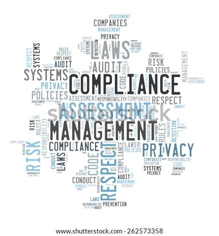 Compliance word cloud - stock photo