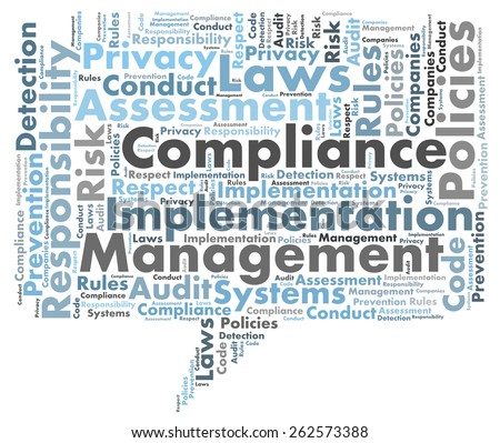 Compliance word cloud - stock photo
