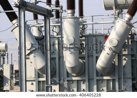 Component shunt reactor for maintain voltage electricity - stock photo