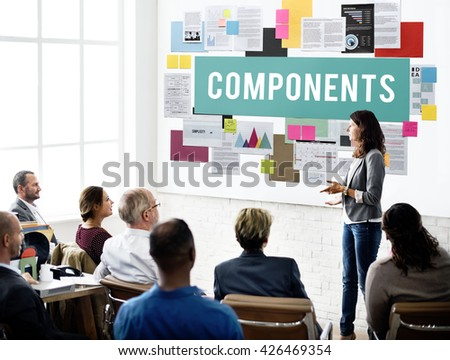 Components Circuit Capacitor Part Hardware Concept - stock photo