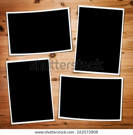 Composite four empty photo frame with places for photo - stock photo