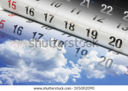 Composite of Calendar and Clouds