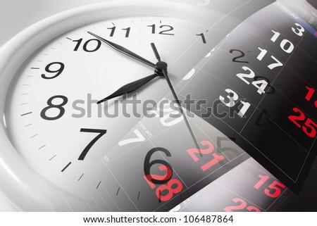 Composite Calendar Pages Clock Stock Photo 118244587 - Shutterstock
