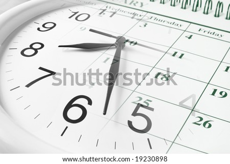 Composite of Clock and Calendar