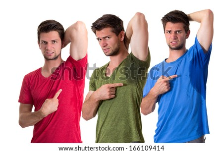Composite of sweating people - stock photo