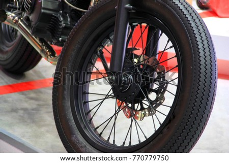 Composition and decoration of motorcycles
