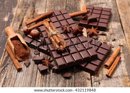 composition chocolate - stock photo