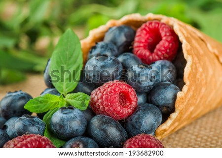 Composition from fresh fruit on an art background - stock photo