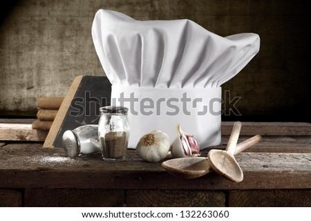 composition in kitchen - stock photo