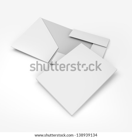 composition of empty folders. 3d render - stock photo
