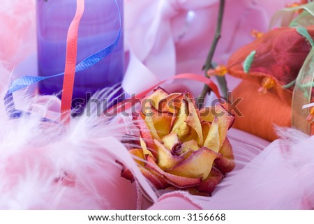 composition of flowers on a background.