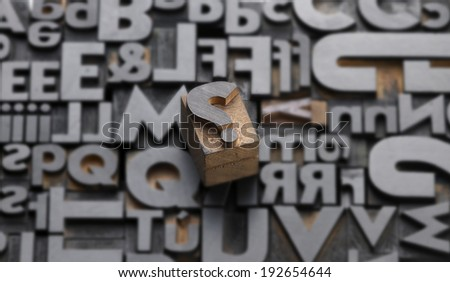 composition of movable fonts on a white background - stock photo