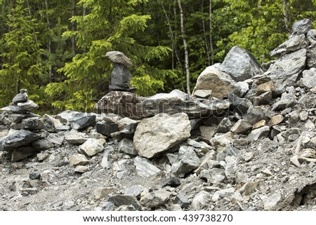 Composition of stones - stock photo