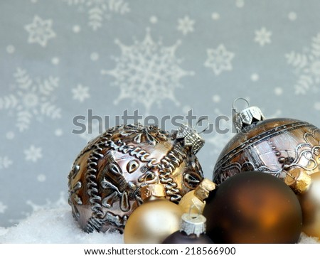 Composition of the Christmas decorations , with a background for coyspace  - stock photo