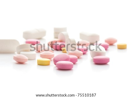 composition of the tablets. studio photography. - stock photo