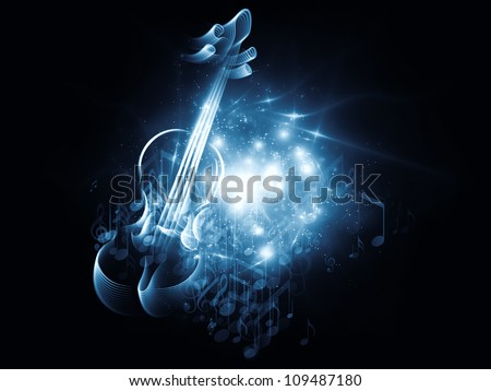 Creating innovative technologies mixed media stock photo for The craft of musical composition
