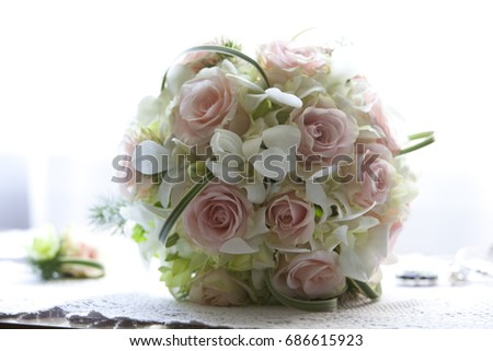 Composition of wedding bouquets of flowers