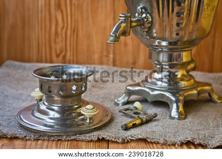 Composition with a samovar in retro style