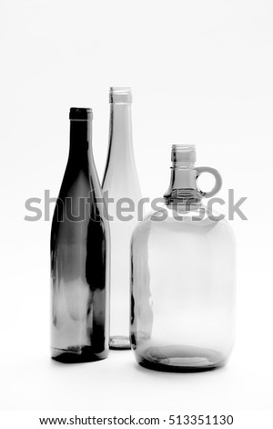 Composition with bottles