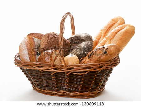 Composition with bread - stock photo