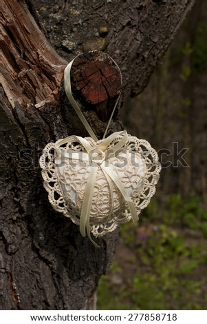 Composition with decorative heart