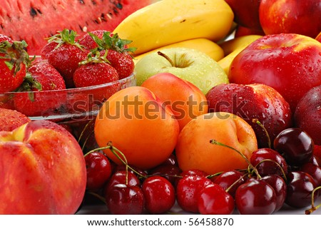 Composition with fruits