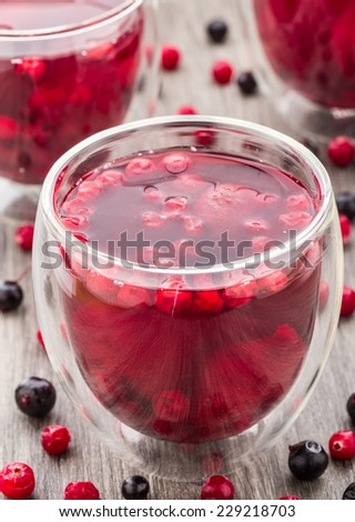 Compote made of berries