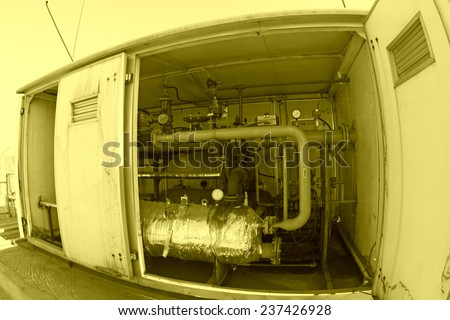 Compressed natural gas adjustable dividers, closeup of photo - stock photo