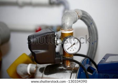 Compressor detail - stock photo