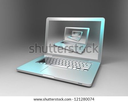 computer and computer - stock photo