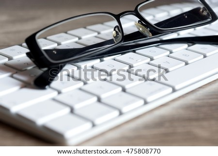 Computer and glasses