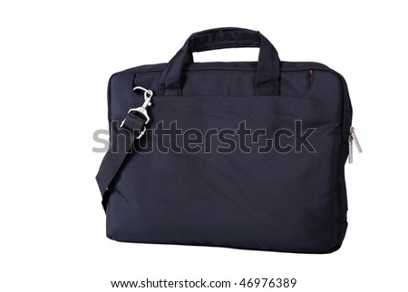Computer bag isolated on a white background