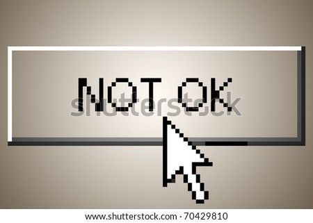 "computer button that says ""not ok"" - stock photo"