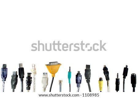 computer cables - stock photo