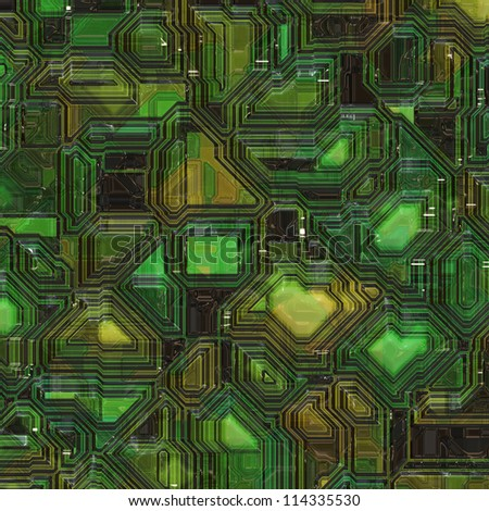 computer chip background - stock photo