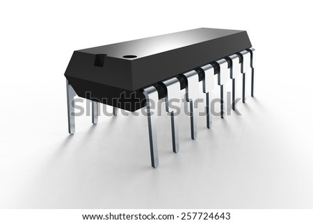 computer chip on white background