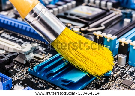 Computer cleaning - stock photo