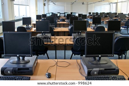 Computer Cluster at the University - stock photo