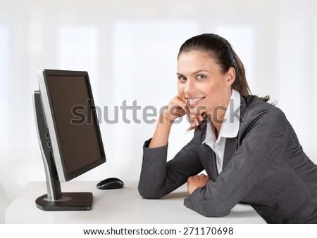 Computer. Comp 4 - stock photo