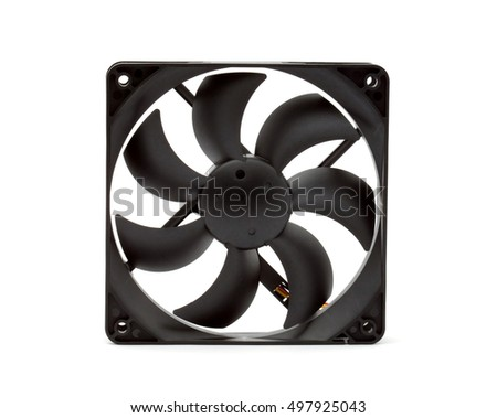 computer cooling fan studio isolated