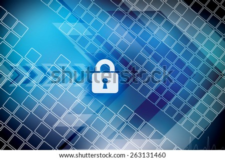Computer data hacked - stock photo