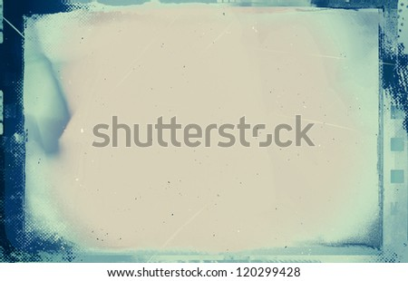 Computer designed high resolution grunge film frame with space for your text or image. - stock photo