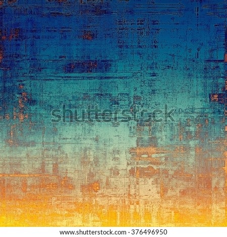 Computer designed highly detailed vintage texture or background. With different color patterns: yellow (beige); brown; blue; red (orange); cyan - stock photo
