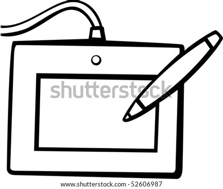 computer drawing tablet - stock photo
