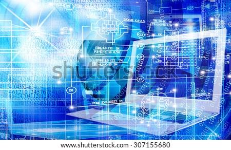 Computer engineering technology - stock photo