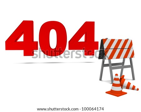 Computer error 404. 3d image. - stock photo